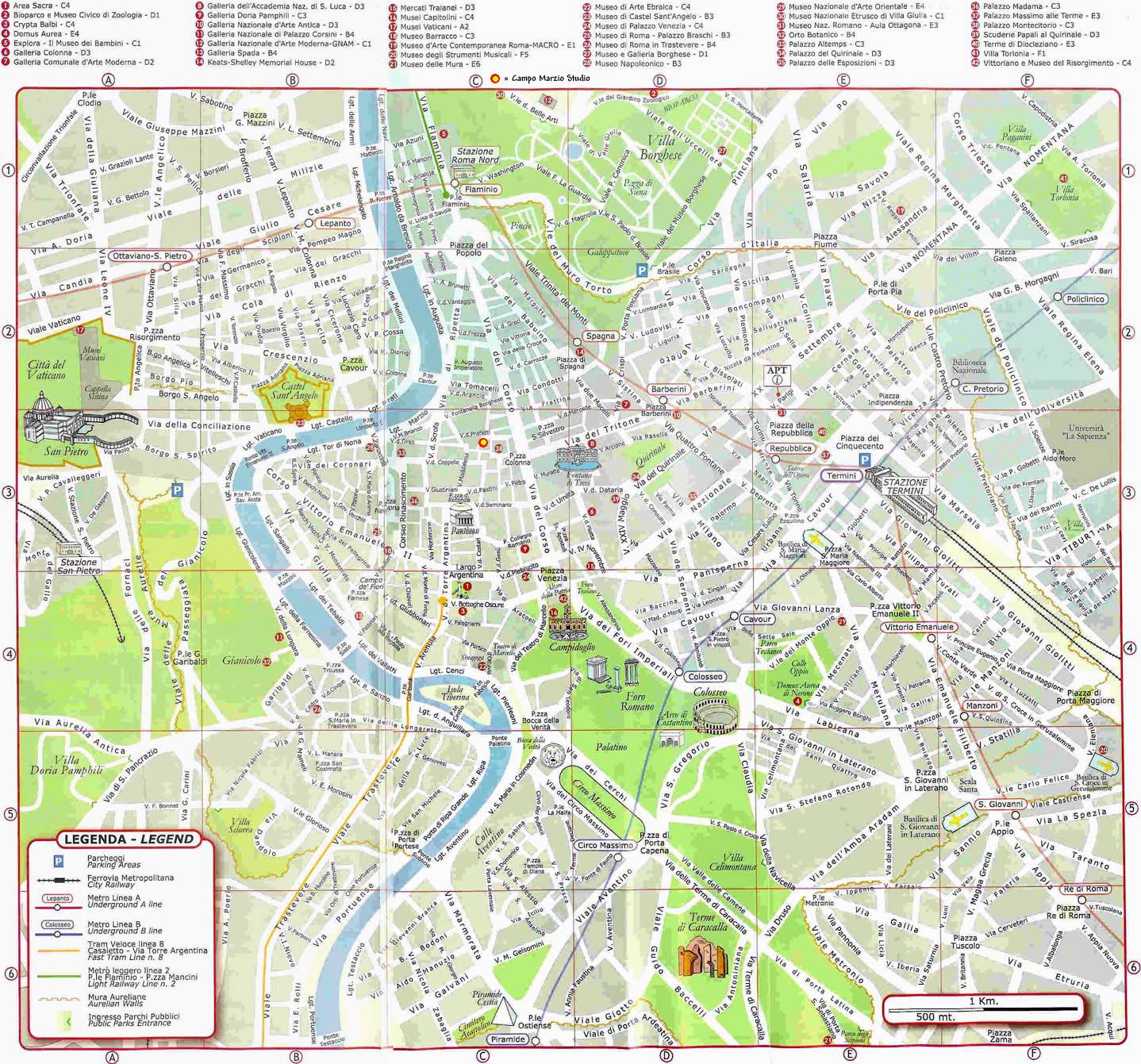 karta på rom Rom 8 12 Mars 2007 karta på rom